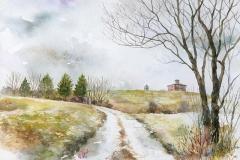 初冬の農場